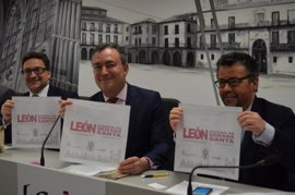'León, ciudad de Semana Santa' se promociona en los reposacabezas de Renfe