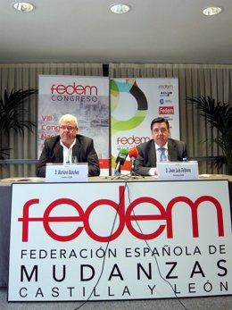 Mariano Sánchez (izda)  y Juan Luis Feltrero.