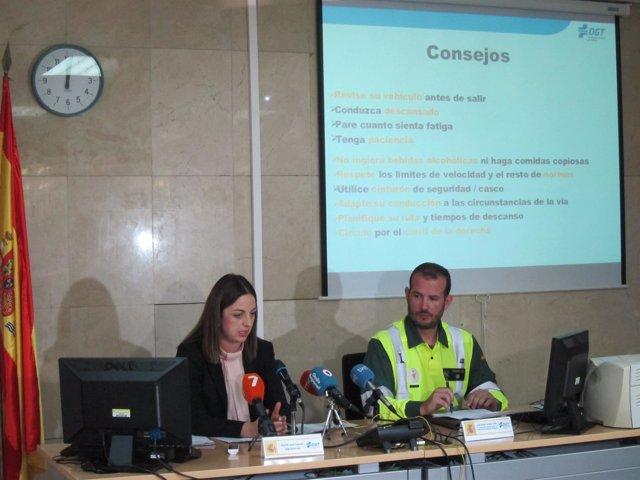 Virginia Jerez y José Ángel Jurado, en la rueda de prensa