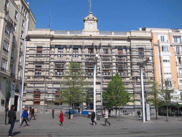 Las obras en la fachada de la DPZ tendrán una duración de tres meses