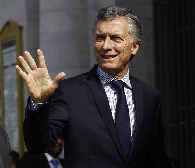 Mauricio Macri en Madrid