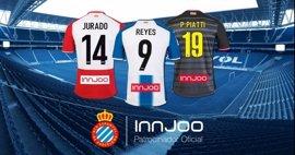 InnJoo, nuevo patrocinador del Espanyol en la parte trasera de la camiseta