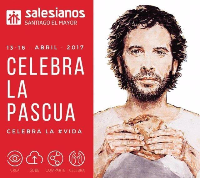 Cartel de los Salesianos para celebrar la Pascua