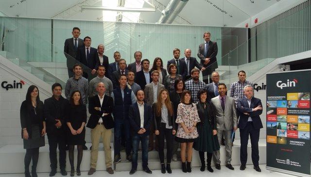 Representantes de las empresas patrocinadoras y de los proyectos