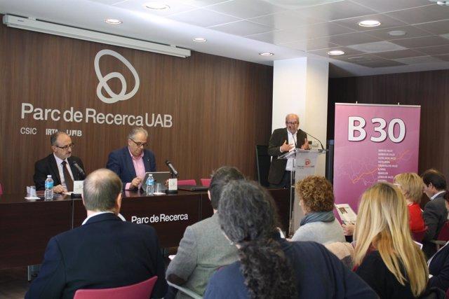 El presidente de la Asociación Àmbit30, Josep Monràs