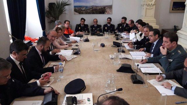 Junta local de Seguridad de Málaga capital. De la Torre. Briones
