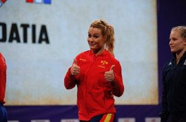 Lydia Valentín se proclama subcampeona de Europa en arrancada 75 kilos