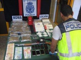 La Policía Nacional detiene a siete personas en Málaga y se incauta de 25 kilogramos de droga