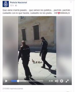Captura del post de la Policía Nacional