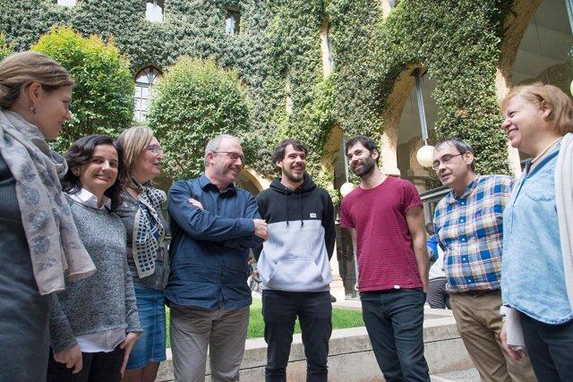 Carles Feixa y su equipo de investigación de la UdL