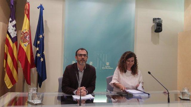Biel barceló y Pilar Costa