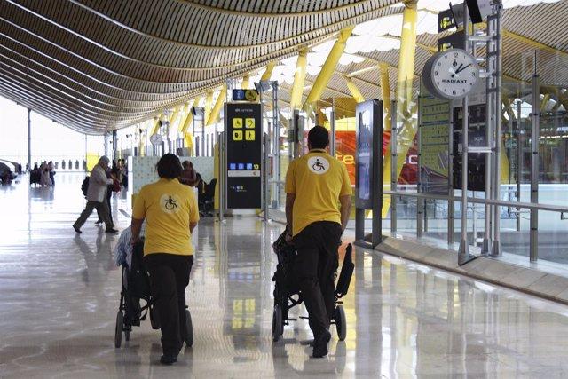 Servicio de Asistencia a personas con movilidad reducida en aeropuertos