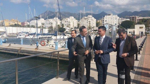 Felipe Lopez con José Bernal bajadilla puerto marbella turismo ampliación