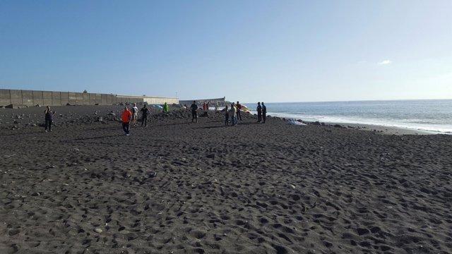 Ahogado en una playa de Tazacorte