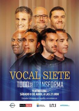 CARTEL VOCAL SIETE TEATRO LEAL