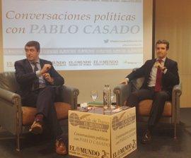 """Casado cree de """"vergüenza"""" la foto de PSOE, PNV y Podemos con Otegi, un """"terrorista confeso"""""""