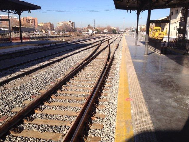 Vías del tren de Granada