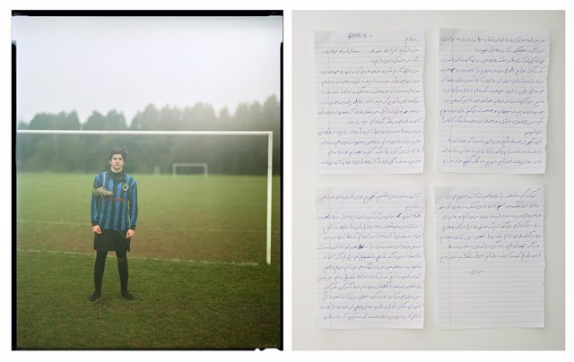 Foto de Craig Easton del refugiado Arshia Ghorbani, I FCBarcelona Photo Awards