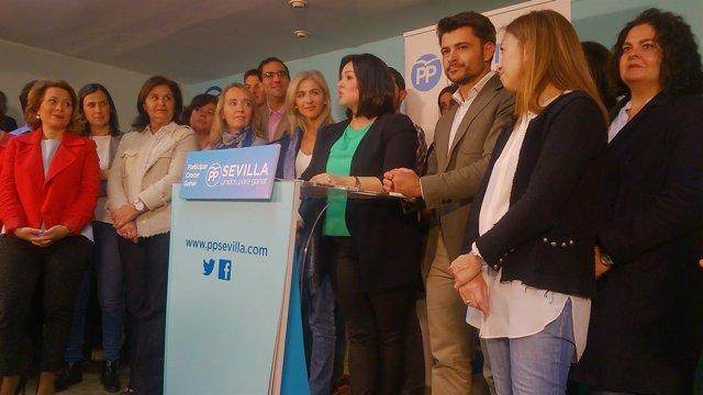Virginia Pérez presenta su candidatura.