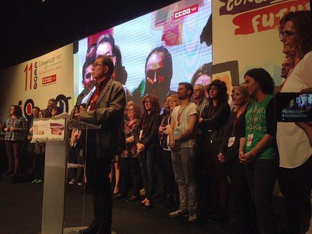 Jaime Cedrún en el XI Congreso de CCOO Madrid