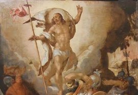 El Museo de Bellas Artes de Córdobaexpone el óleo sobre cobre 'La Resurrección del Señor'