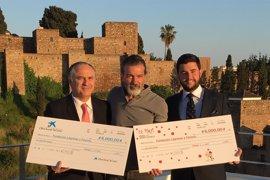 """La Obra Social """"la Caixa"""" y El Pimpi aportan 12.000 euros para el economato social de la Fundación Corinto"""