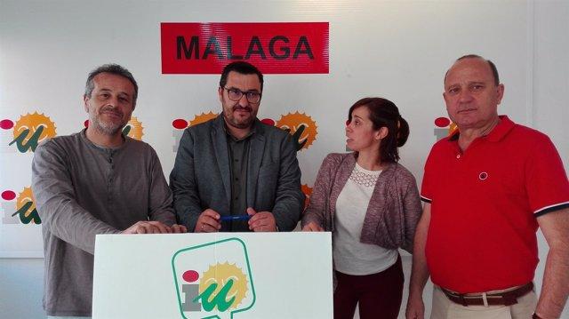 Castro, Ahumada, Teresa Sánchez y Dámaso Marquez IU Málaga dirección