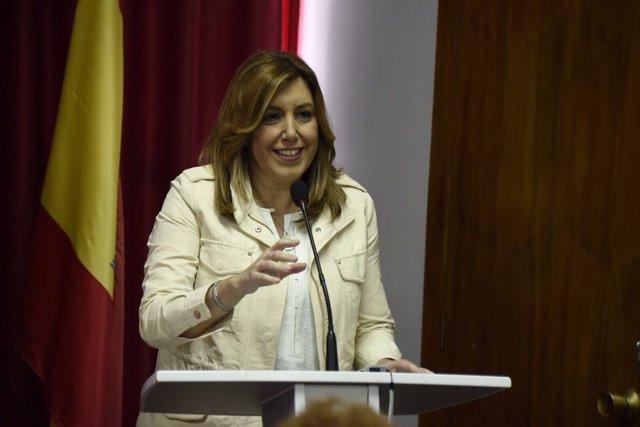 Susana Díaz en Villafranca de los Barros (Badajoz)