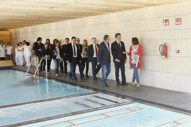 El presidente de la Xunta visita el balneario Caldas de Partovia