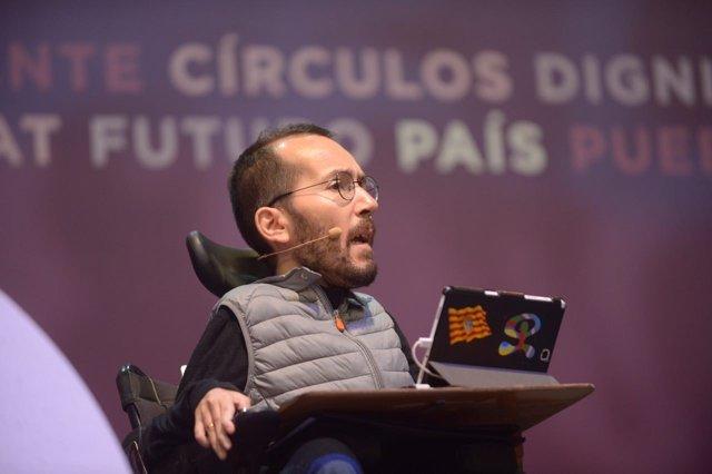 Pablo Echenique, secretario de Organización de Podemos, en Vistalegre