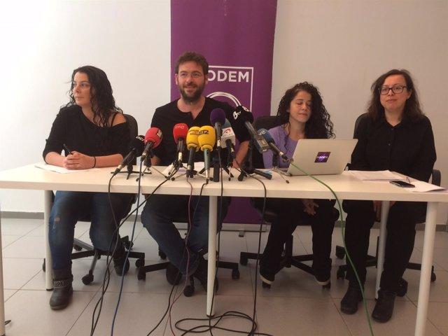 Albano-Dante Fachin, Ruth Moreta, Noelia Bail, Laura Haba (Podem)