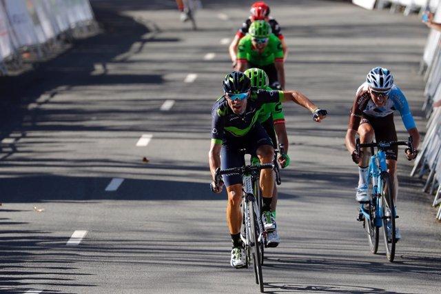 Valverde (Movistar) se lleva etapa y liderato en Arrate