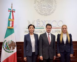 """Peña Nieto expresa su """"preocupación"""" a Tintori por la situación en Venezuela"""