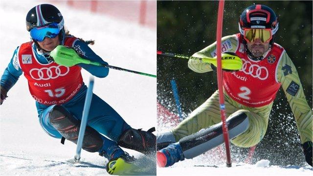 Miren Miquel y Quim Salarich, campeones de España de esquí eslalon