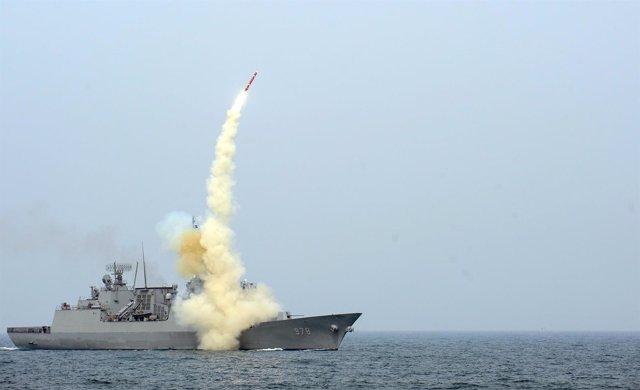 Corea del Sur, misil, submarino
