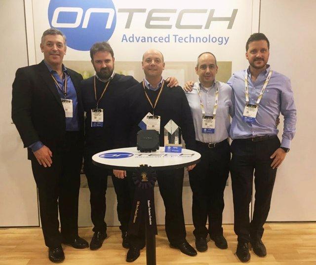 Equipo de Ontech en la feria ISC West Las Vegas.