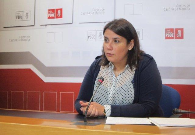Agustina García en rueda de prensa