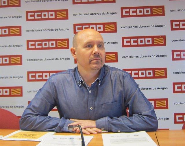 Manuel Pina, candidato a la Secretaría General de CCOO en Aragón.