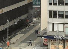 La Policía informa de la detención formal del sospechoso del atentado del viernes en Estocolmo