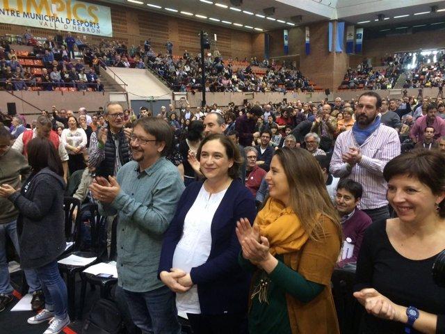Xavier Domènech, Ada Colau, Candela López y Laia Ortiz