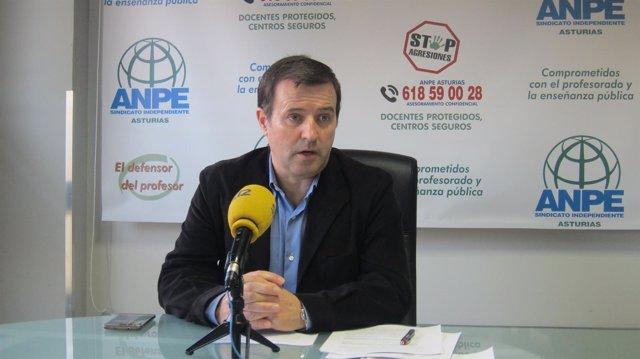 Gumersindo Rodríguez, presidente de ANPE Asturias