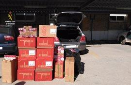 Intervenidas 2.850 cajetillas de tabaco de contrabando localizadas en un vehículo