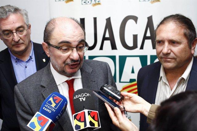 Lambán inaugura el acto del 40 Aniversario de la Asamblea Constituyente de UAGA.