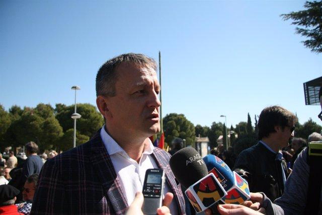 Fernando Rivarés este sábado en Zaragoza.