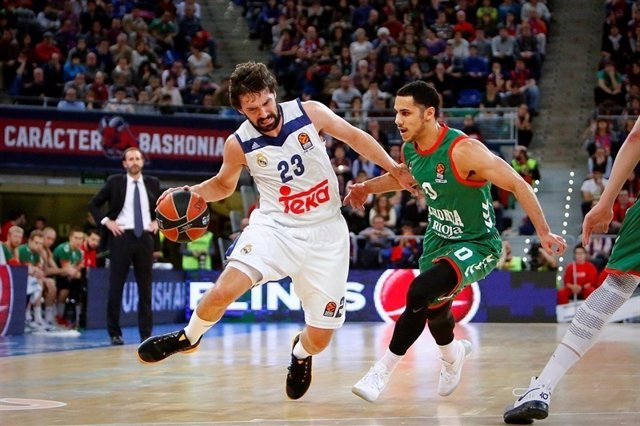 Llull y Larkin en el Baskonia - Real Madrid