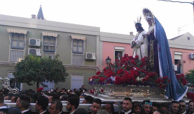 Nuestro Padre Jesús Cautivo y la Virgen de la Trinidad. Traslado