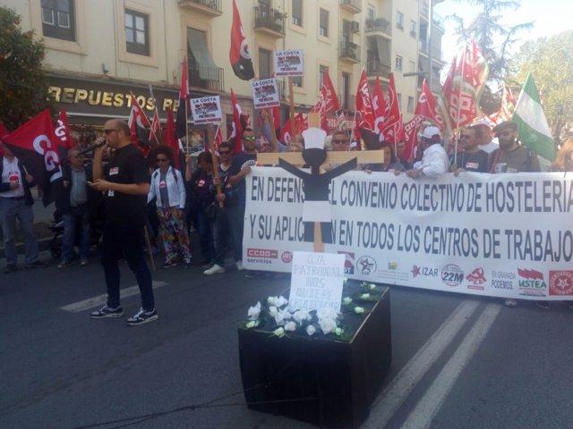 Manifestación sector de hostelería de Granada