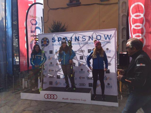 Núria Pau y Juan del Campo, Campeones de España de gigante