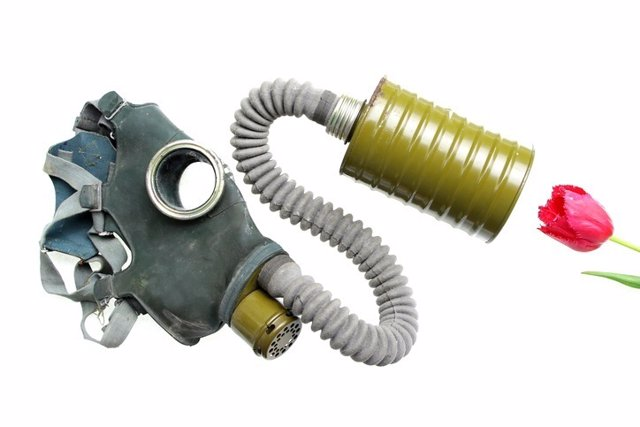 Máscara de oxígeno, sin olfato