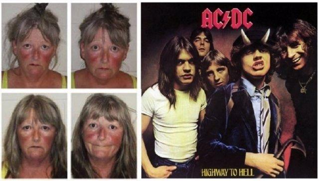 Joyce Coffey, fan de AC/DC detenida
